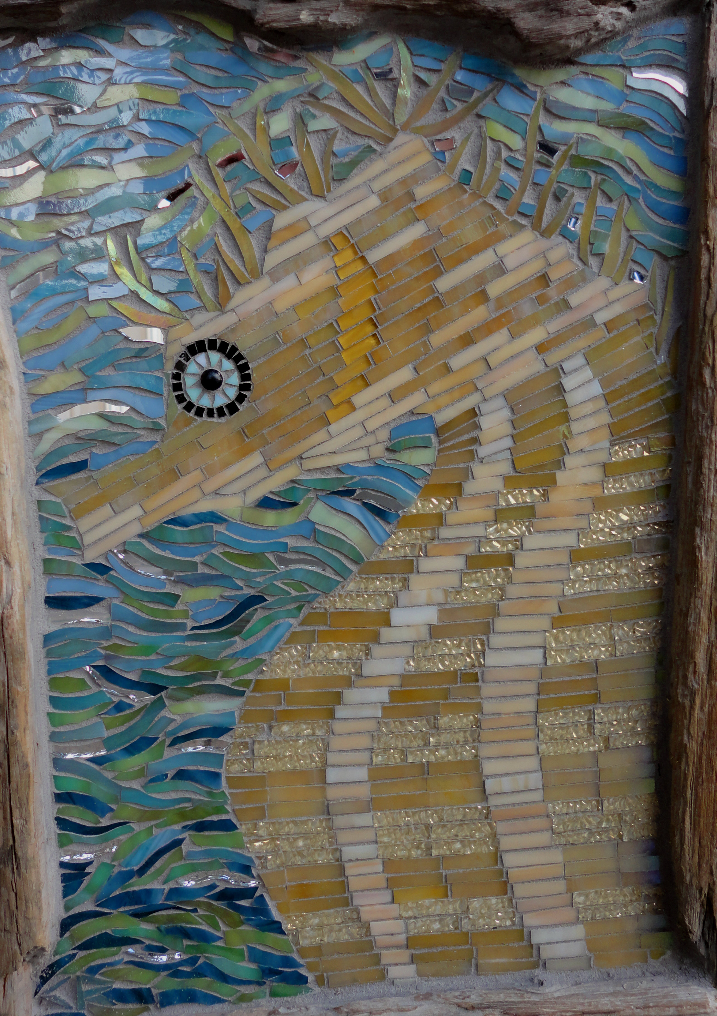 Seahorse with Drift Frame (Stained Glass)