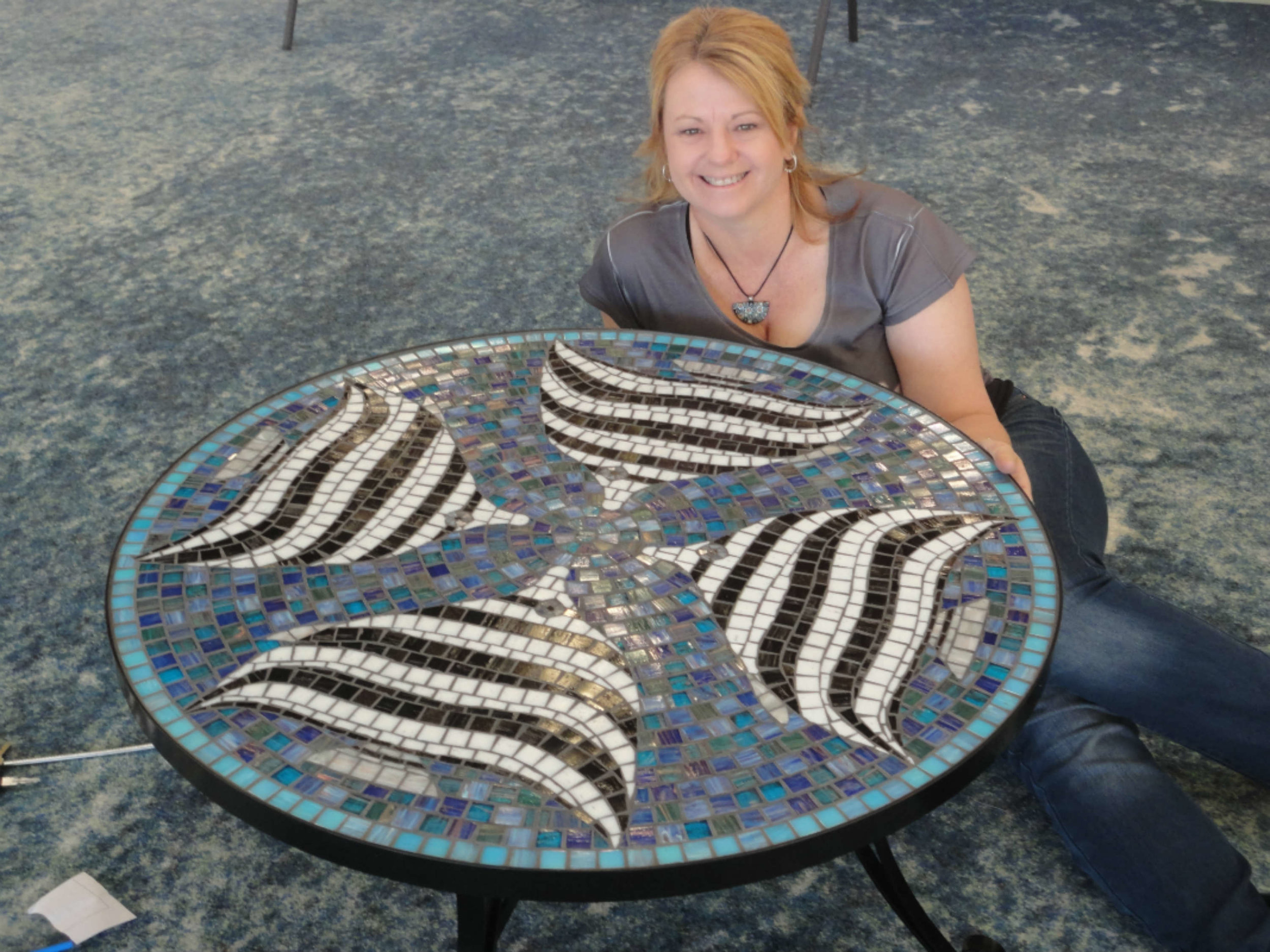 Four Talma Coffee Table (Commission) (Glass Tiles)