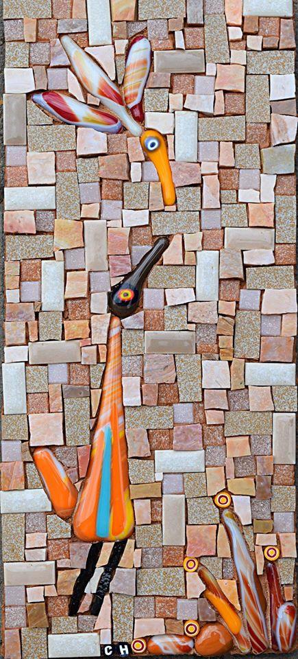 Birdy Series (Glass Fusions, Smalti, Glass Tiles, Millefiori, Glass Tiles)