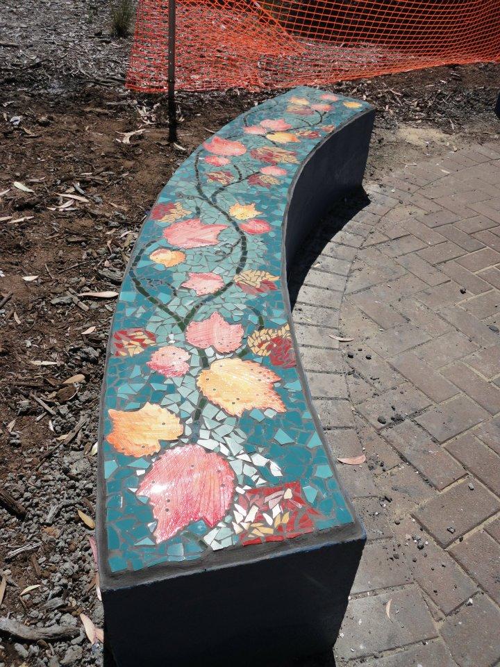 Autumn bench, Seaford Community Centre