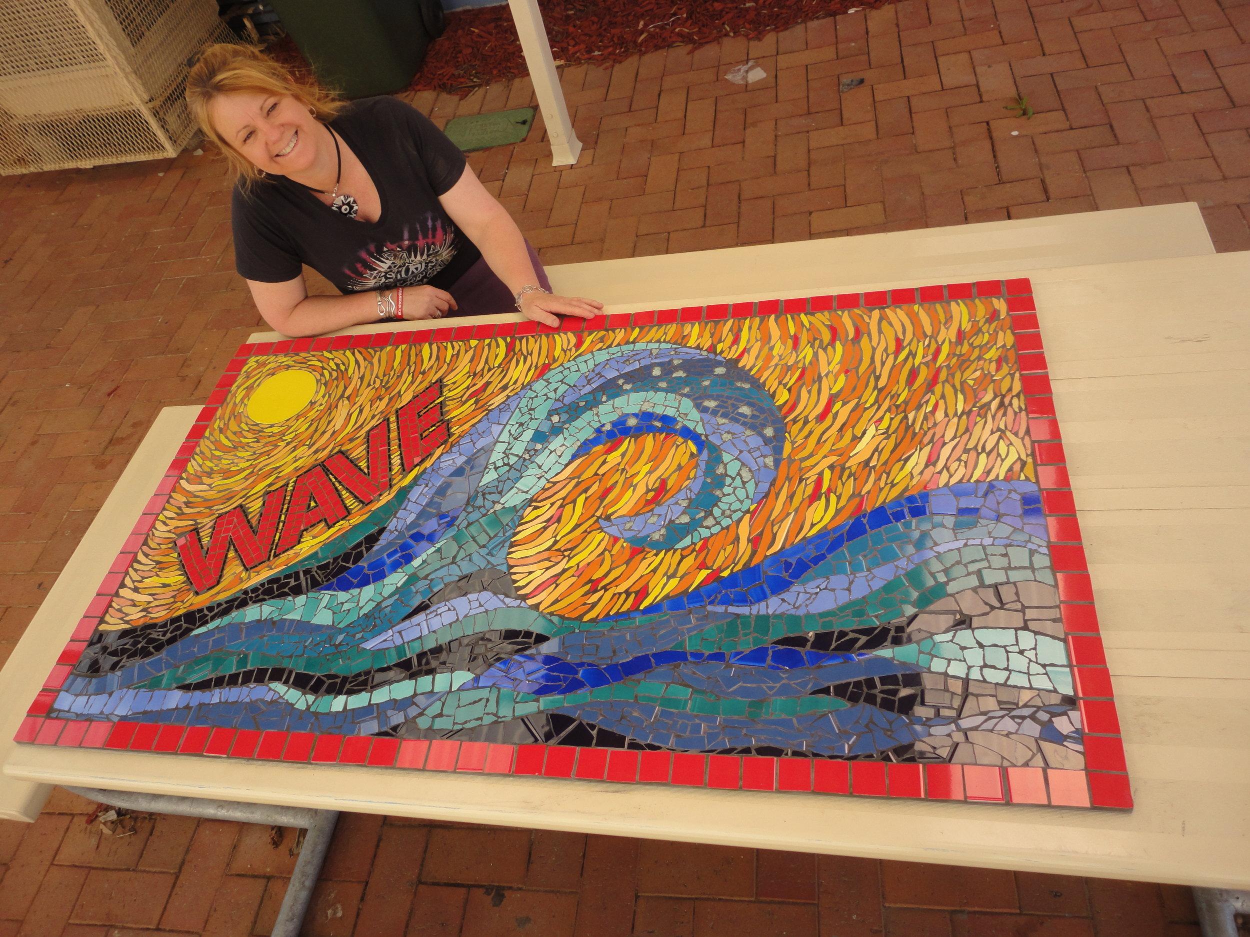 """Wirreanda High School """"Wave"""" Program Mosaic"""