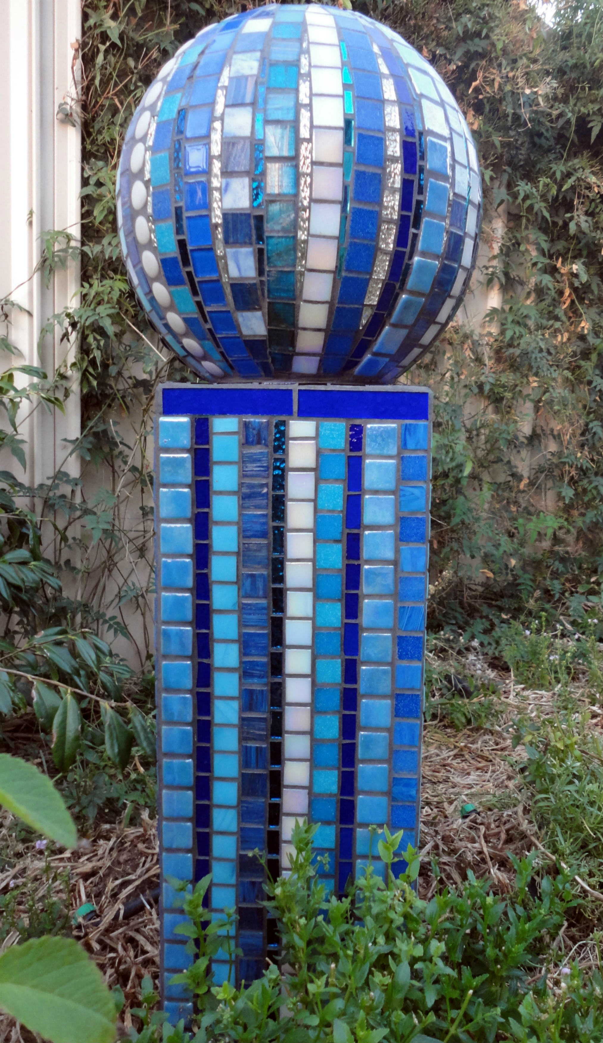AquaSphere (Poly ball, Glass Tiles, Mirror Glass, Beads, Stained Glass)