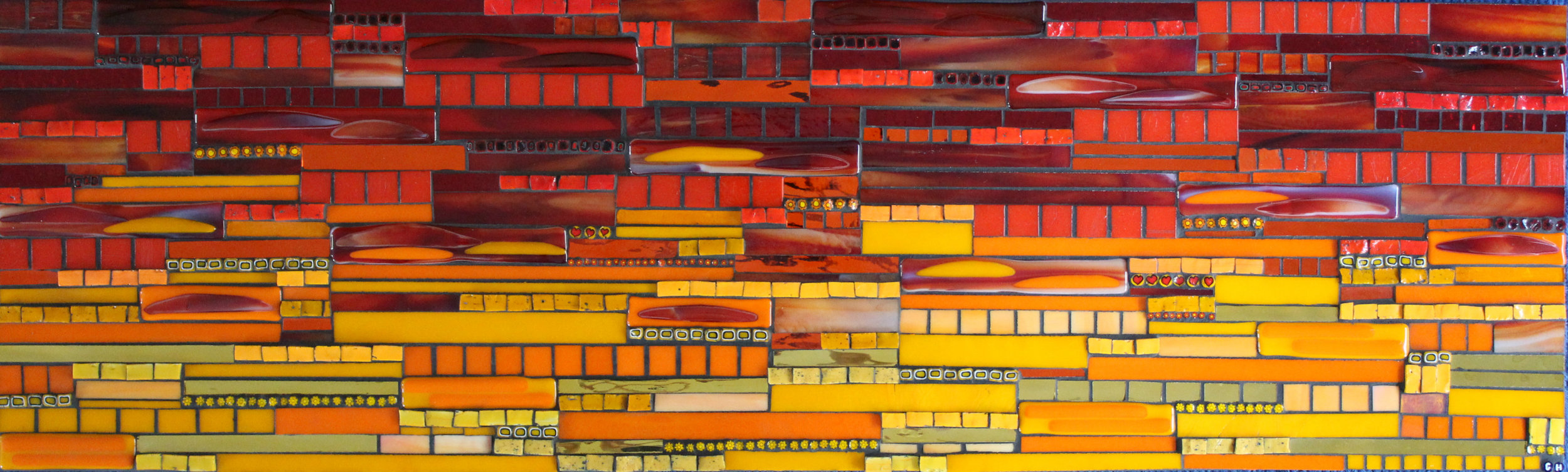 Sunset (Smalti, Millefiori, Glass Fusions, Stained Glass)