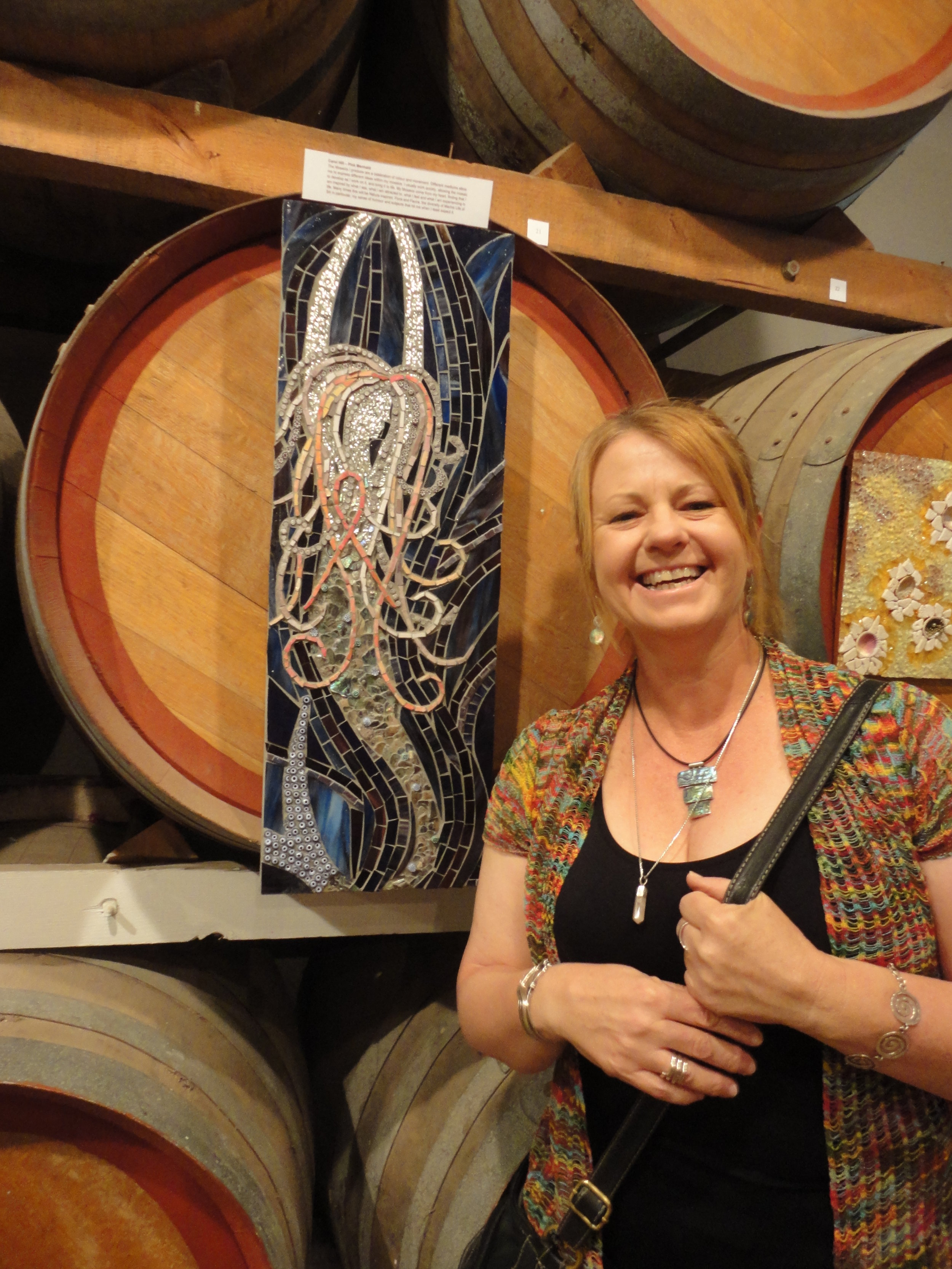 MAANZ Open Exhibition,  Rosemount Winery, McLaren Vale, South Australia 2013 (Pink Ribbon Mermaid Mosaic)