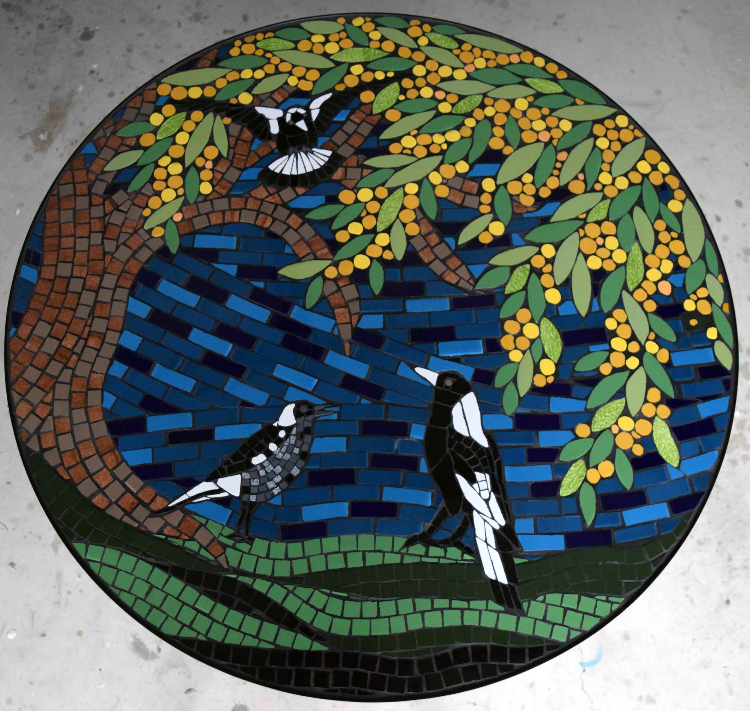 Magpie Table 90cm Diam. (Commission) (Ceramic)