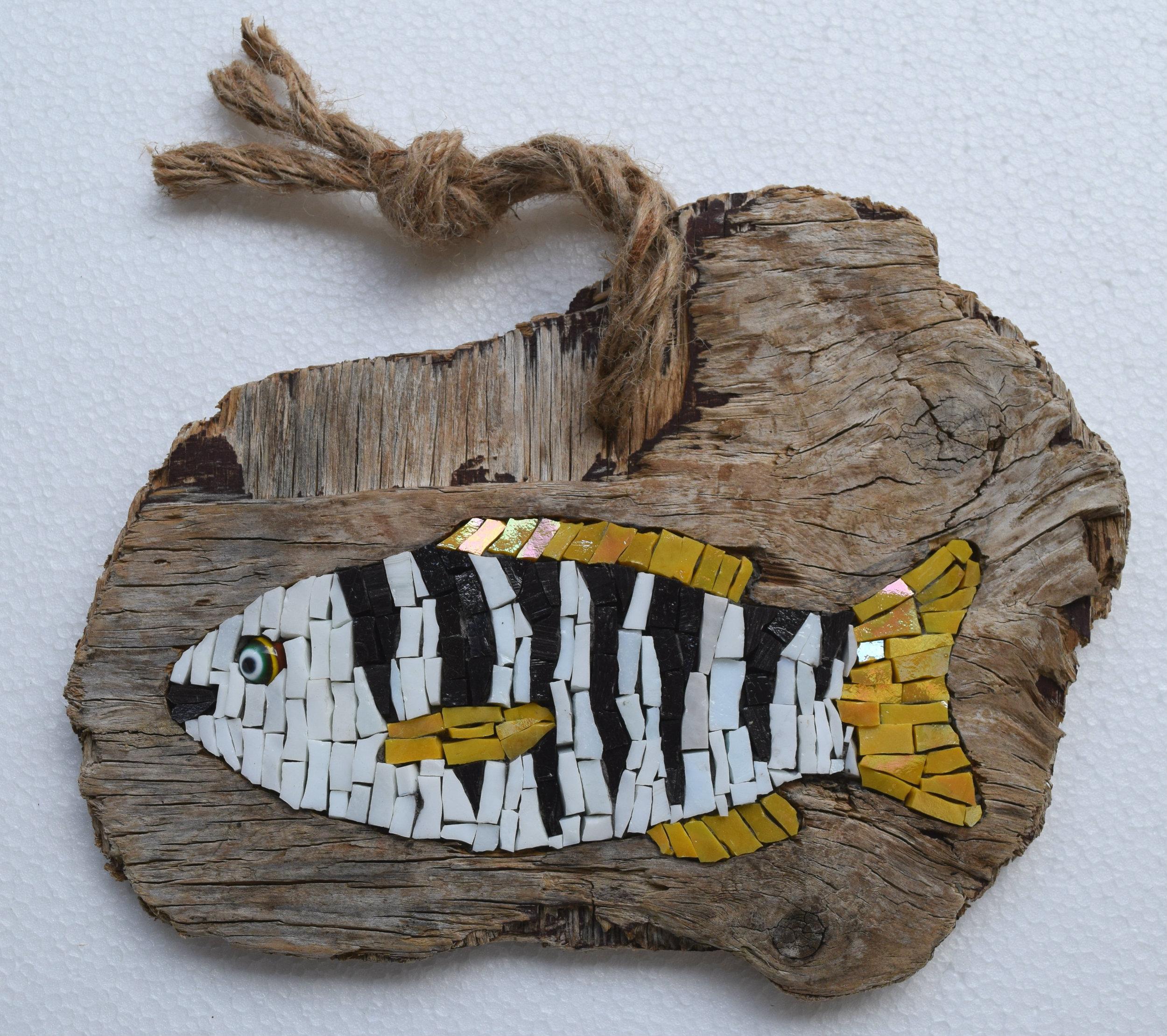 Baby Zebrafish ( Smalti, Glass Fusion, Driftwood)