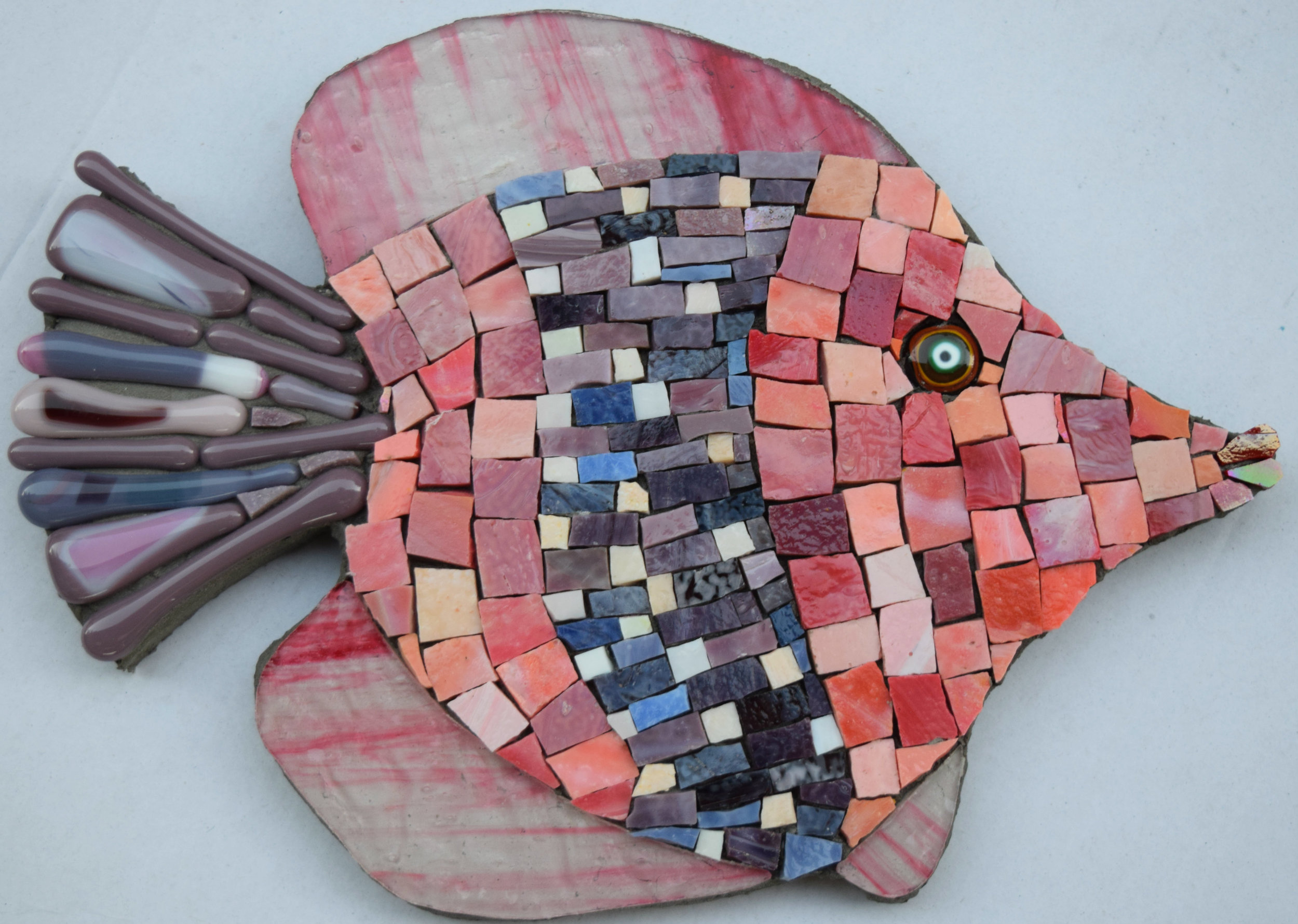 Fishie (Smalti, Glass Fusions, Stained Glass)