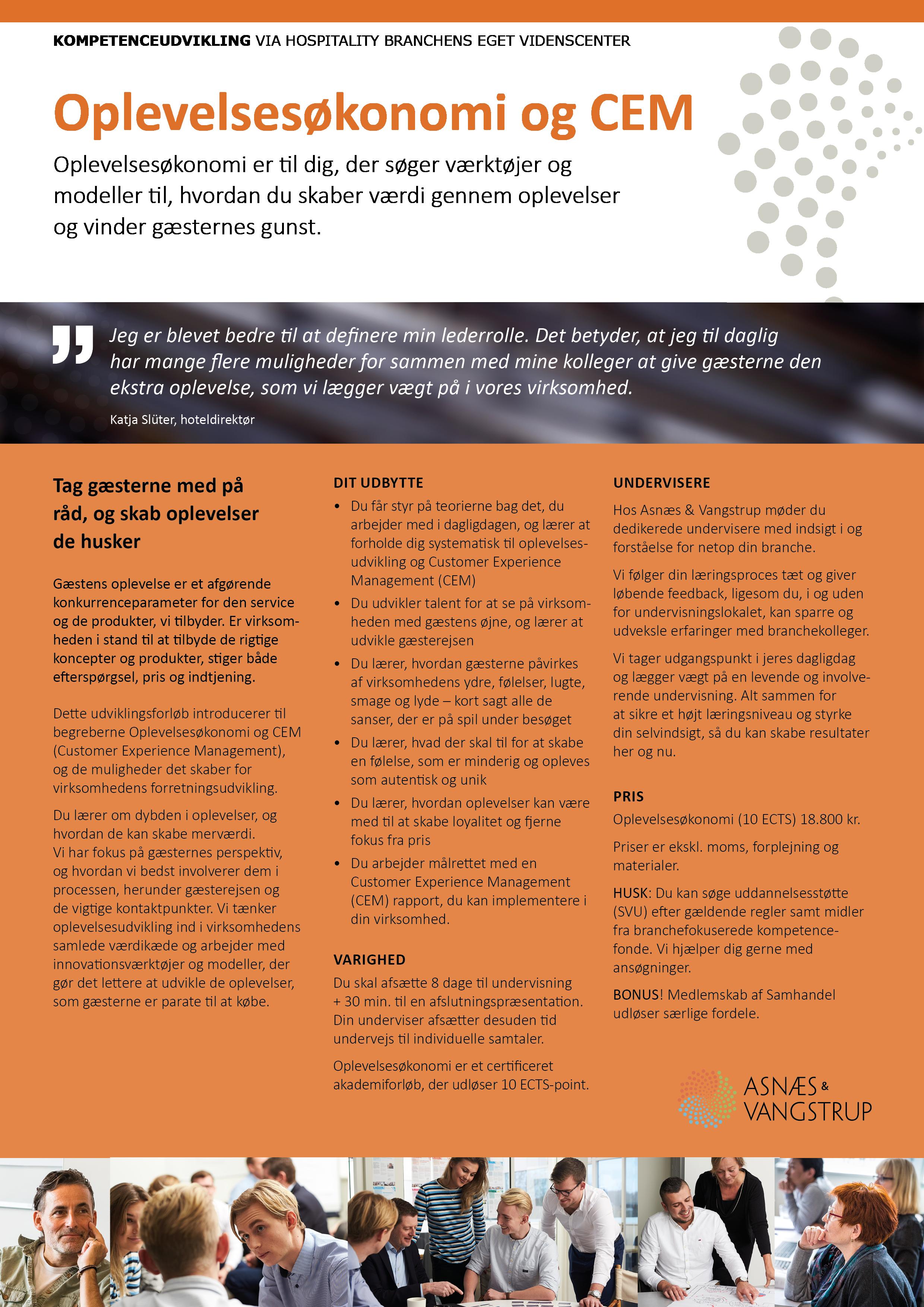 Oplevelsesøkonomi og CEM