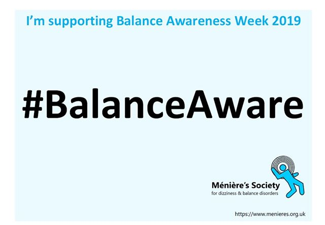 "Did you know this week is Balance Awareness Week?  Close your eyes and stand on one foot. It's hard right? Now imagine having that same disoriented feeling on two feet, and with your eyes open. Balance is something most of us take for granted. It's automatically hardwired into our bodies at birth, evolving and adapting as we grow and age. While basic balance is innate, some of us can perfect or master our balance through exercise and practice. We don't often think about our balance, until of course, we lose it.  While most people may not be familiar with the word ""vestibular"" relating to your inner ear, brain, and sense of balance, many of us have experienced the awkward or sometimes scary feeling when we momentarily lose our balance. Maybe it's taking a wrong step or getting motion sickness aboard a jostling boat. Or that nauseating head-spinning sensation after one too many alcoholic beverages. Eventually, our balance comes back and life moves on.  The Ménière's Society is the only registered charity in the UK dedicated solely to supporting people with vestibular (inner ear) disorders causing dizziness & imbalance. They receive no government funding, rely solely on fundraising and memberships to fund there vital work. **continued in comments**"