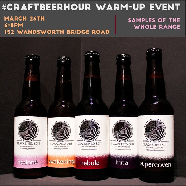 On March 26th, we will have a small tasting event of @blackenedsunbc  beers between 6 and 8pm. If you want to know what the talk is about on #craftbeerhour with @craftbeerhour at 9pm (over on Twitter! sorry Grammers), drop by the shop to discover this Belgian-inspired brewery from Milton Keynes! . . . #beerevent #beer #craftbeer #belgianbeer #drinklocal #beerculture #beertalk #talkbeer #ama #miltonkeynes #fulham #wandsworth #freeevent #beertasting #beersampling #samples #saison #saisonbeer #blackenedsun