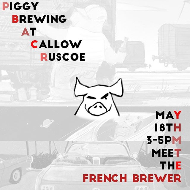 NEW EVENT: Next Saturday 18th 3-5pm, we have the founder of the infamous French brewery @thepiggybrew in the shop! Never heard about them? 2nd best French brewery on @untappd. As per usual, we will be giving out samples and cheesy bites, join us for some fun times 🐖  These guys are absolute IPA masters and are also bringing us an Imperial Stout they are fiercely proud of!  Kindly provided to us by @hoppinrabbitbeer . . . #beer #craftbeer #craftbeers #fulham #wandsworth #instabeer #beerstagram #craftbeerculture #beerinnovation #callowruscoe #tutoredtasting #beertasting #freeevent #instacraftbeer #craftbeergeek #frenchbeer #frenchbeergeek #frenchcraftbeer #supportlocal #risingstar #modernbeer #fulhamlife #ipa #hazyipa #toprated #imperialstout #piggybrewingcompany #rareevent