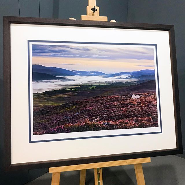Incredible to see that some @edsmithphoto Limited Edition prints are well into their teens. There will only ever be 50 of these beautiful signed prints, which are framed behind ultra clear, UV filtering glass and using @fsc_international certified wood. . This is Ed's 'Badenoch & Strathspey' image which has also been on the cover of the @caledoniansleeper magazine. We are thrilled that there are numerous local owners as well as owners as far afield as #sanfrancisco and #michigan, all with prints produced in the gallery, from our beautiful corner of Scotland in the creative town of #kingussie