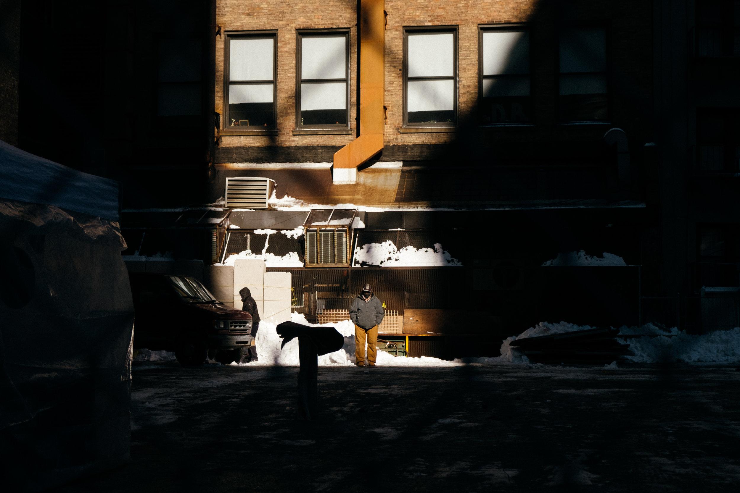Man in the Winter Light , Manhattan, NY