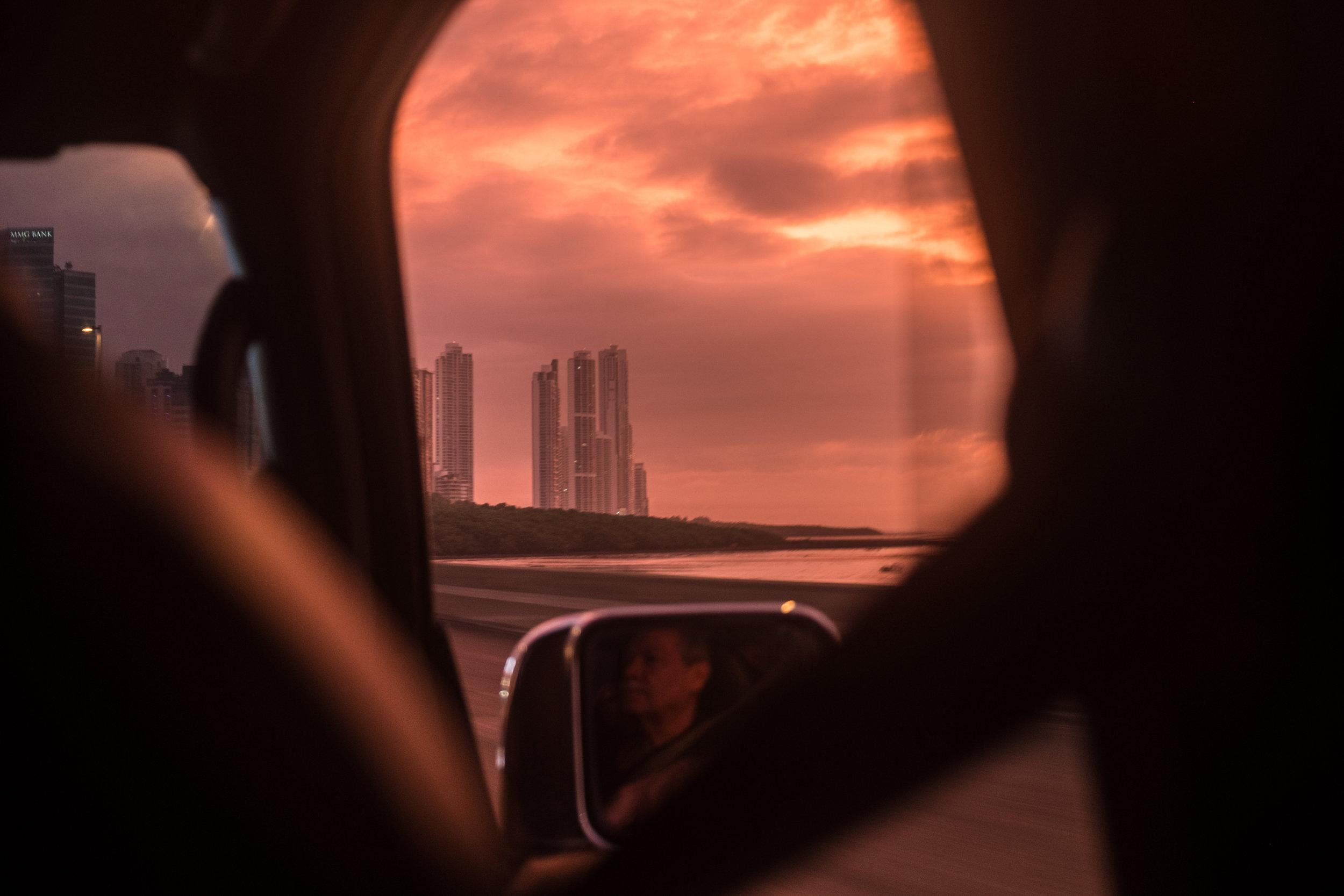 Sunrise over Panama City bay