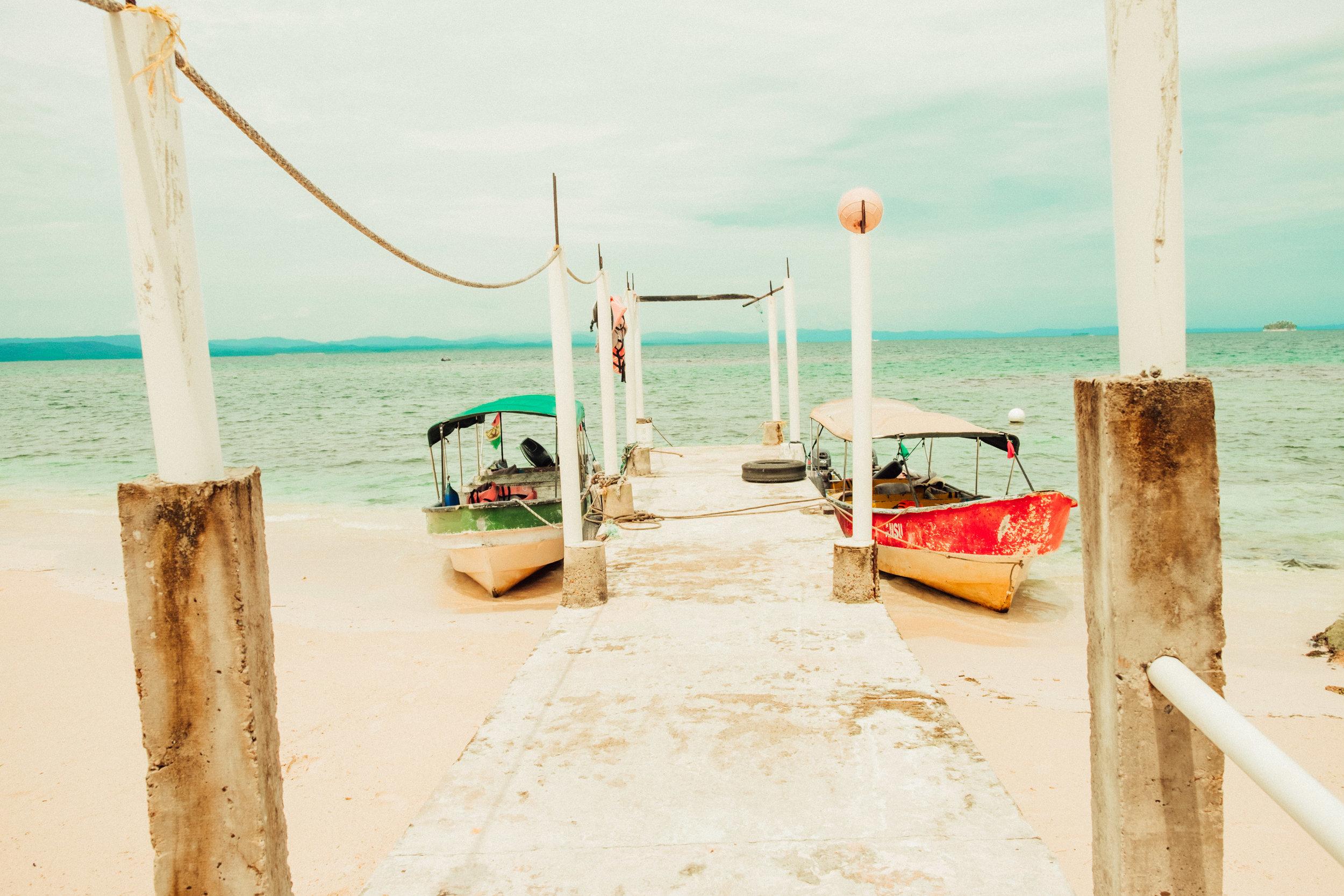 San Blas Island boats