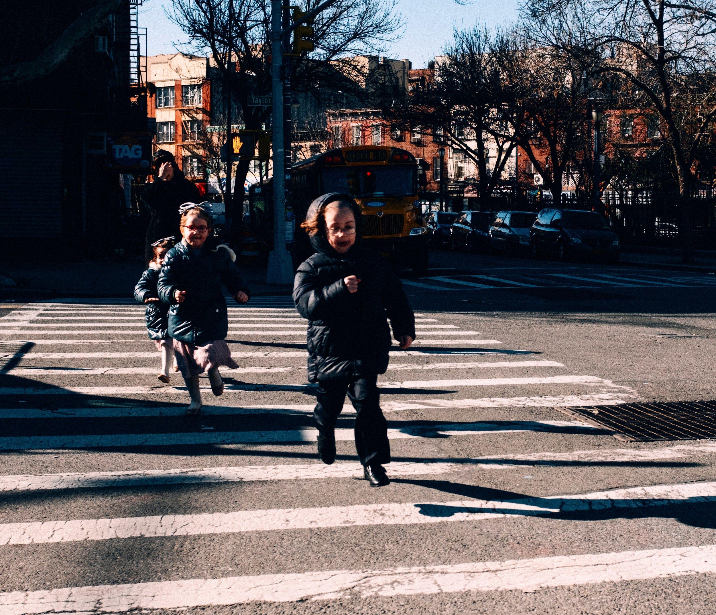 Running kids, Brooklyn NY