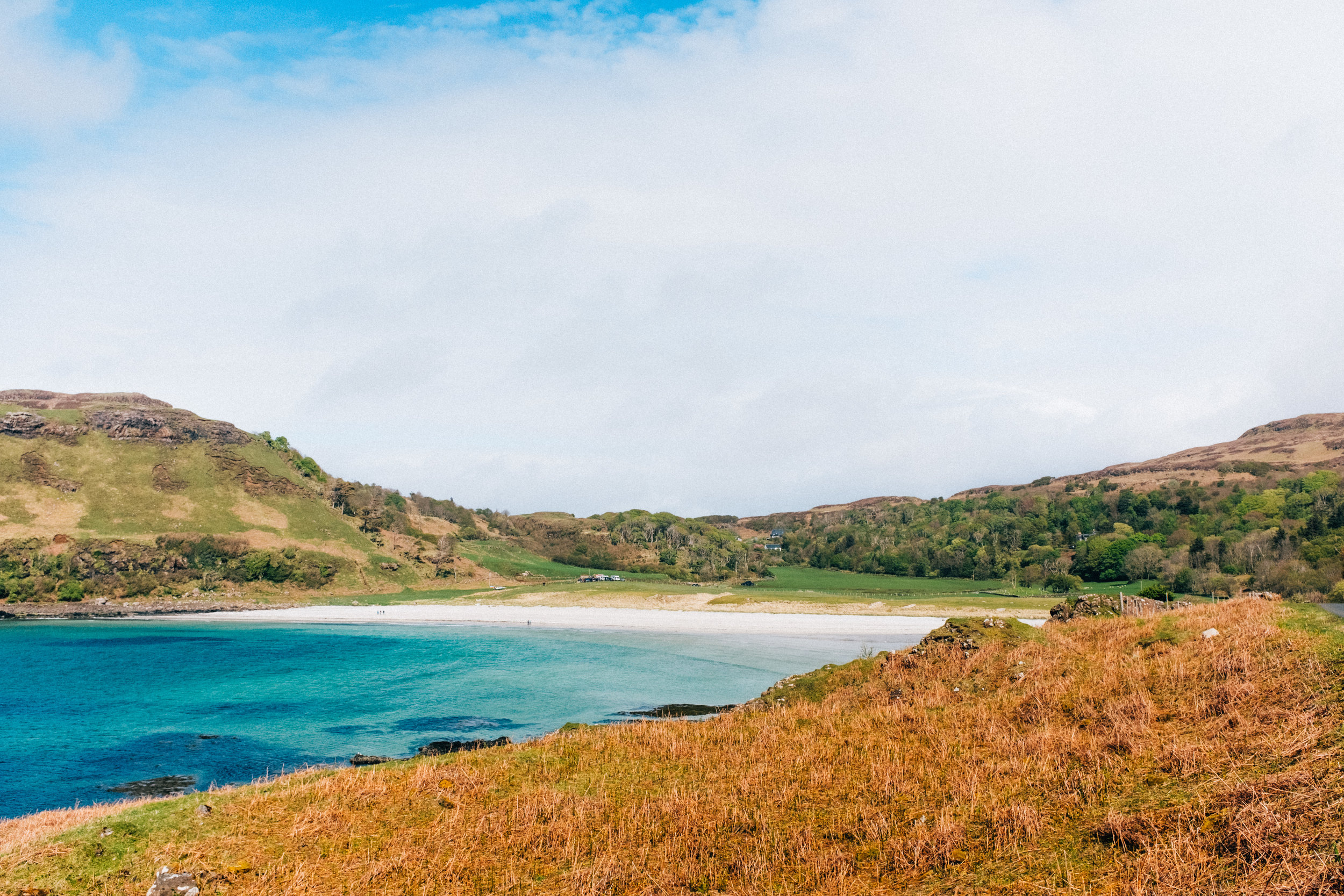 Calgary Bay, a white sand beach on Isle of Mull