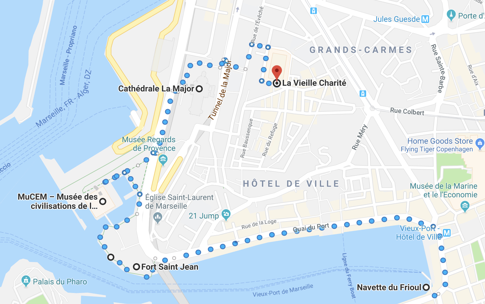 Visit Marseille. A tour guide with a map.