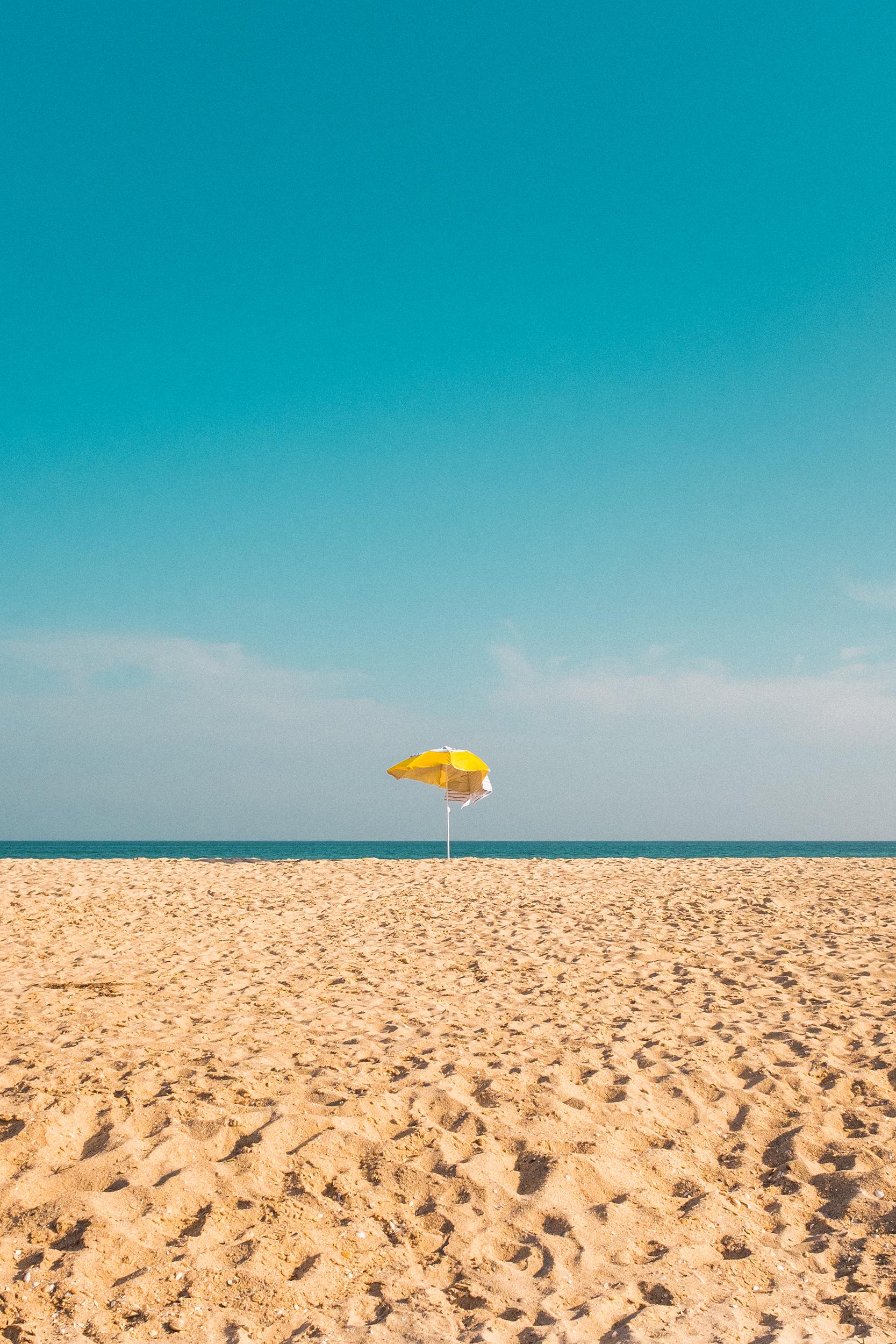 Beach Umbrella , Algarve, Portugal