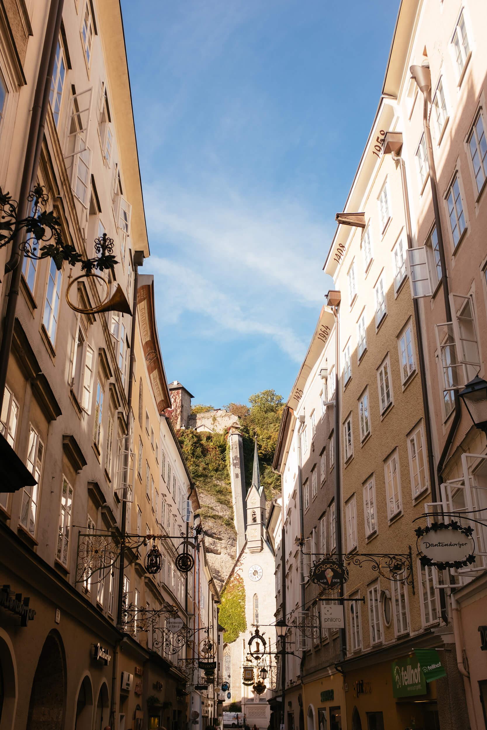Salzburg cute old streets