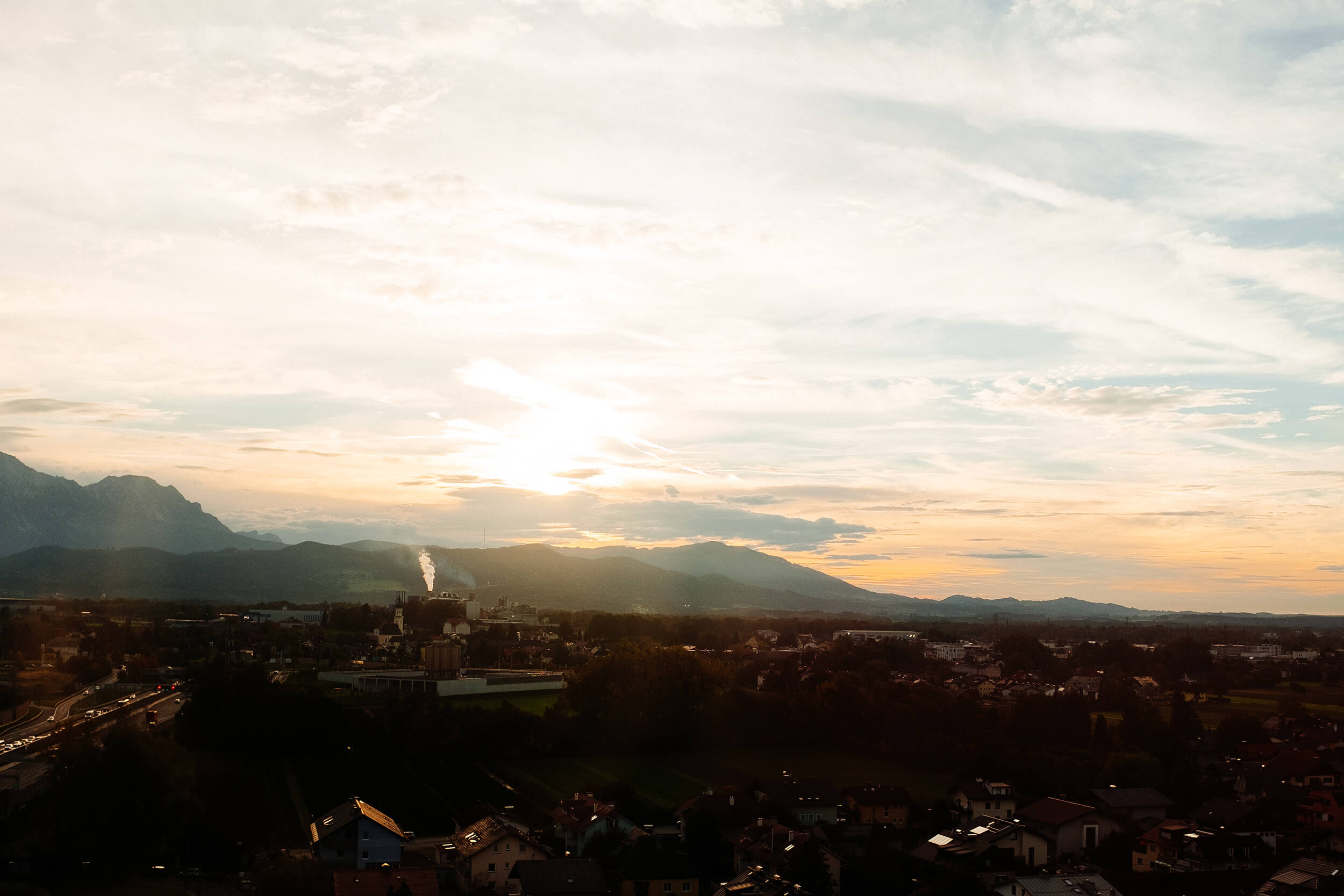 View over Salzburg region from the Cool Mama hotel