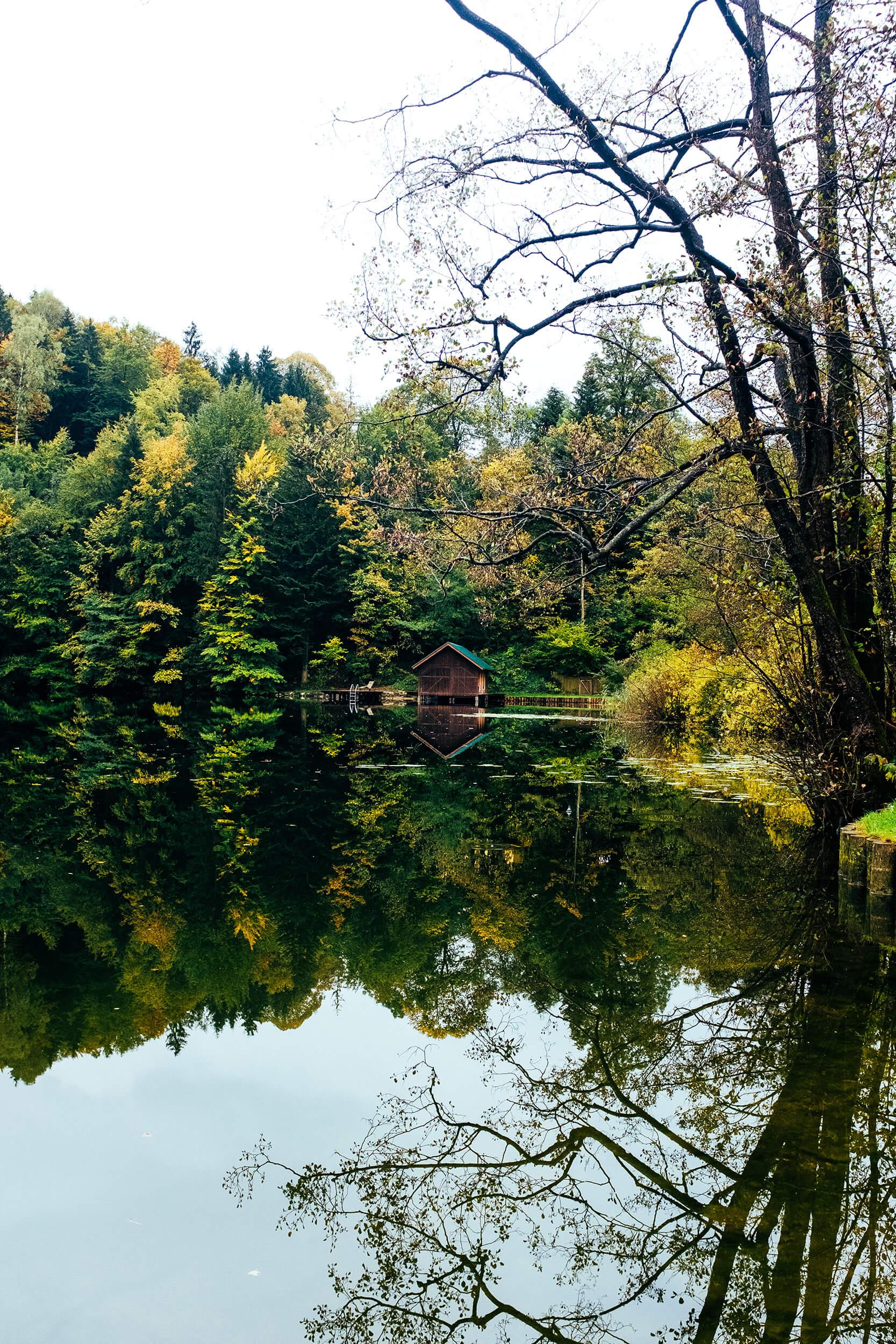 Austria Road Trip Lake Cabin