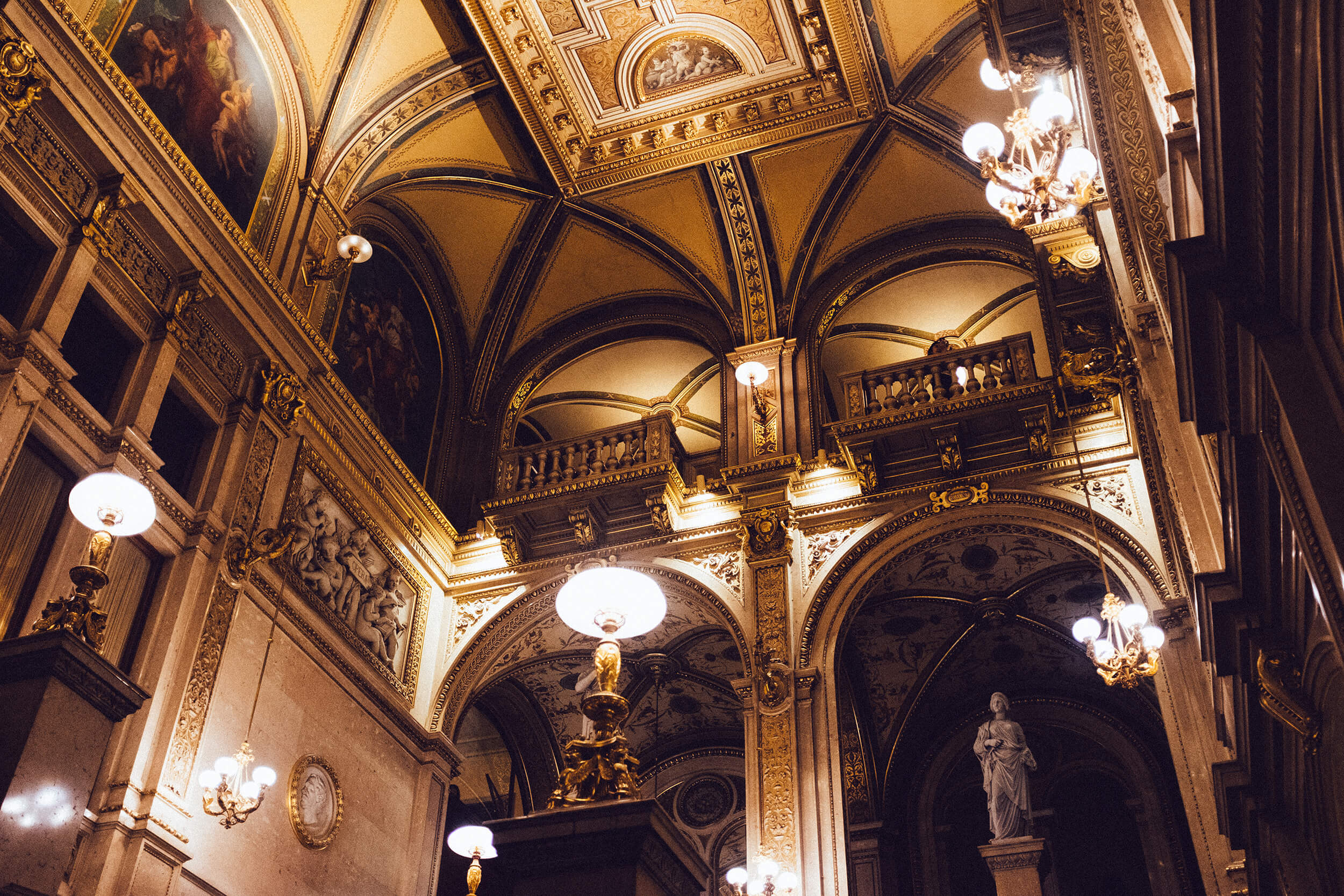 The majestic and legendary Vienna State Opera (a.k.a.  Wiener Staatsoper )