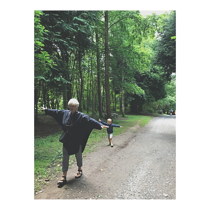 All the fun with his Yaya at Castlecomer Discovery Park