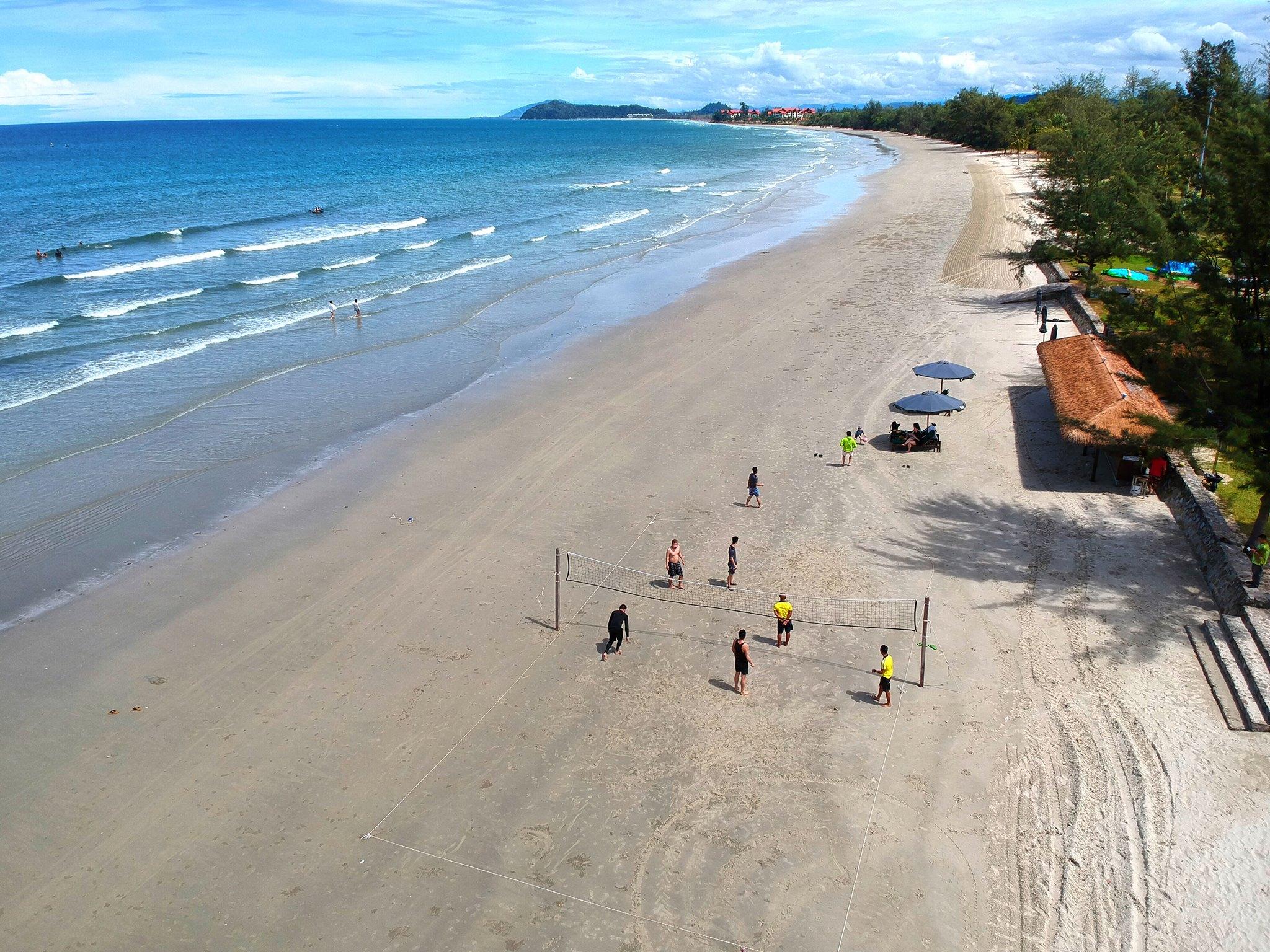 ...or having fun on the Nexus private beach, the longest in Malaysia
