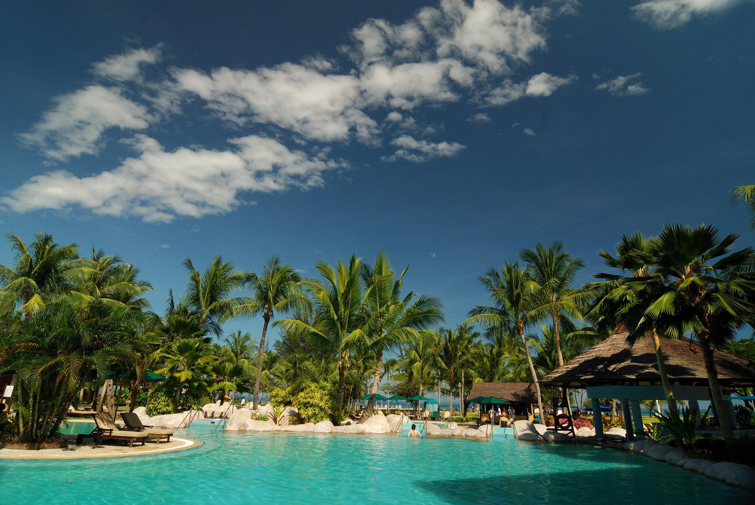 One of several swimming pools at Nexus Resort & Spa