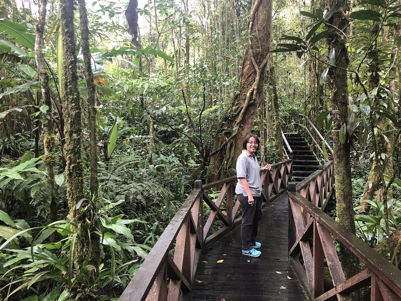 Enjoying the Botanical Garden in Kinabalu National Park