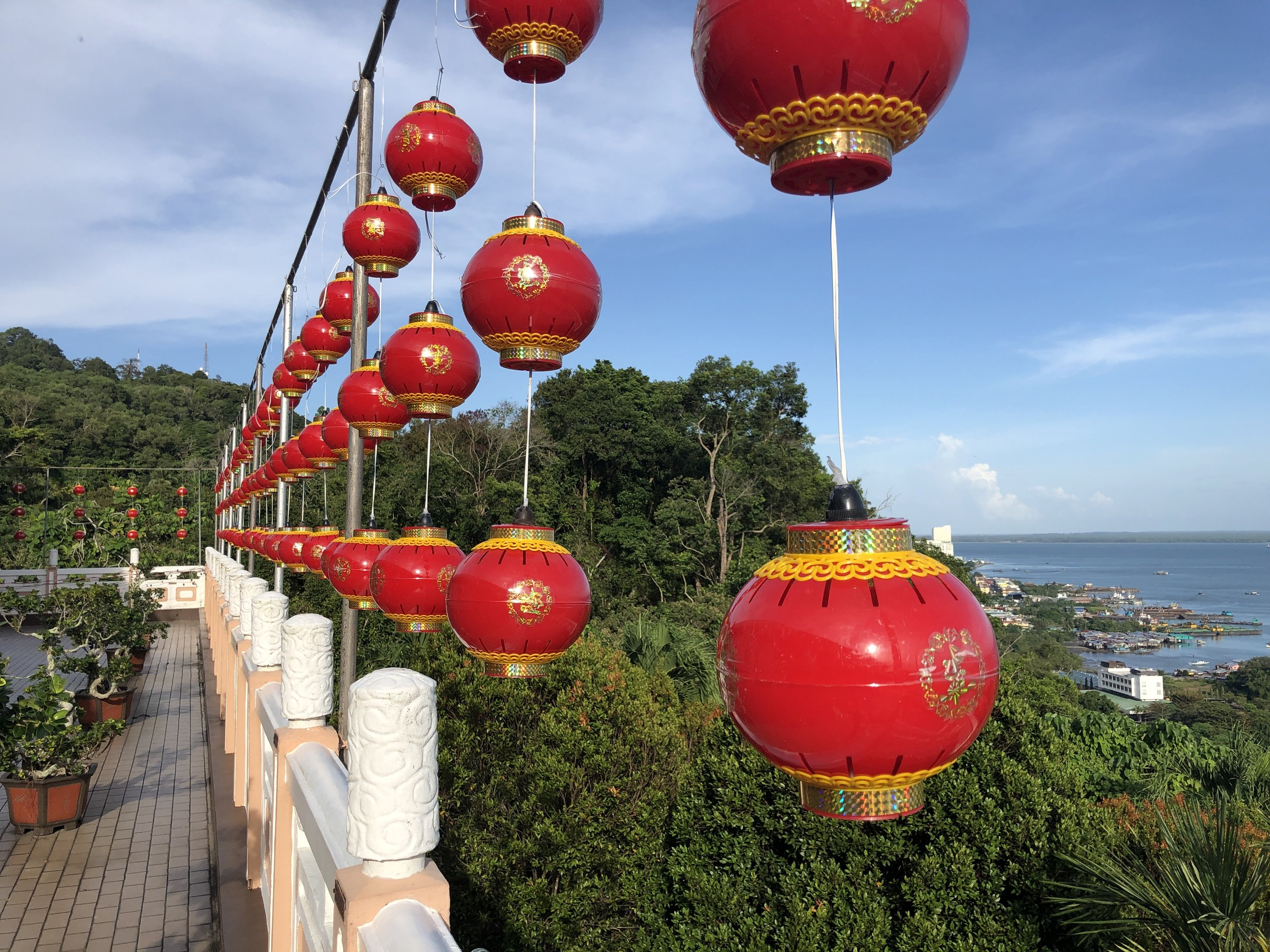 Chinese lanterns at Puu Jih Shih Temple