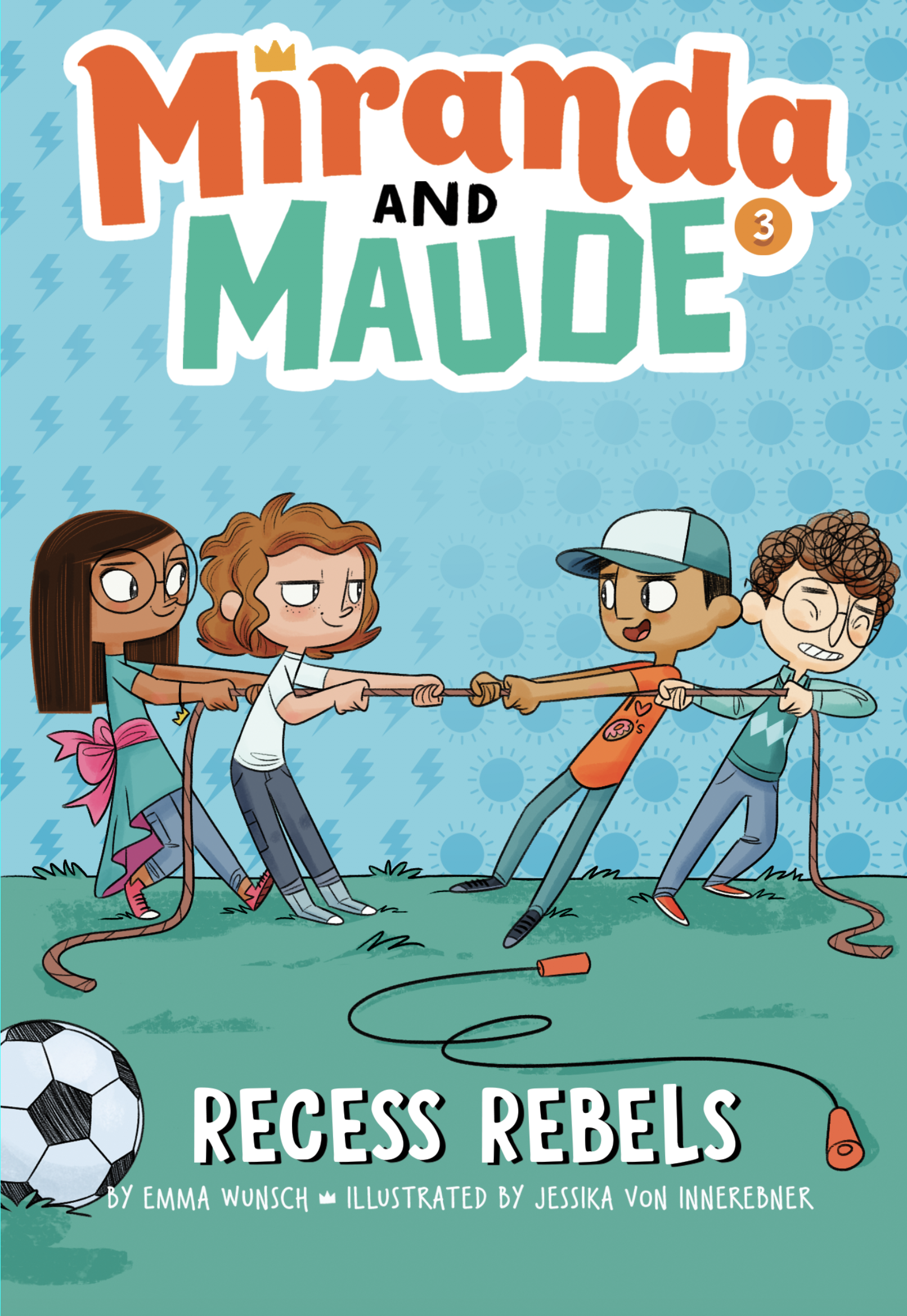 RECESS REBELS book 3 in the MIRANDA and MAUDE series is out now! - The girls and boys of 3B aren't getting along. It starts with a game of tag and ends with a tug of war. In between, there are sneak attacks, a girls-only newspaper, a doughnut filled with cheese, and one stolen Frizzle chicken. Maude gets lots of opportunities to protest, but in the end, it's Miranda who learns to stand up for what she believes in.Order your copy today! Signed copies available from my local indie Norwich books.