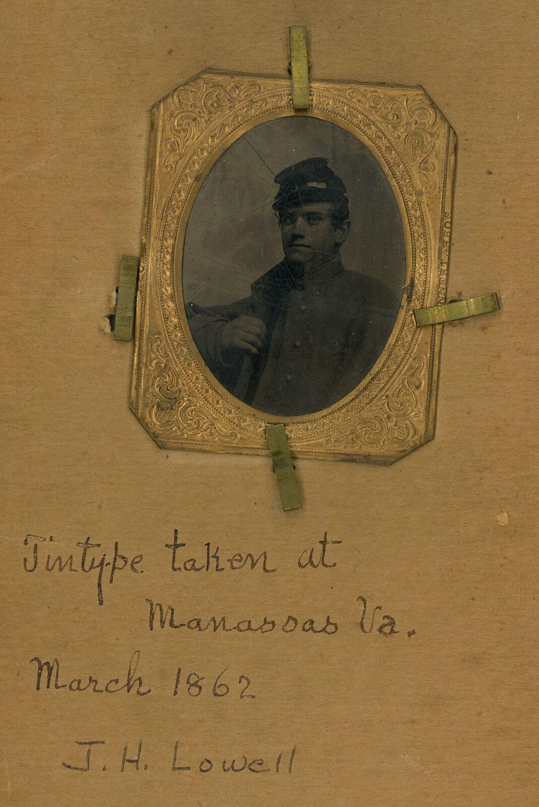Tintype of James Howard Lowell