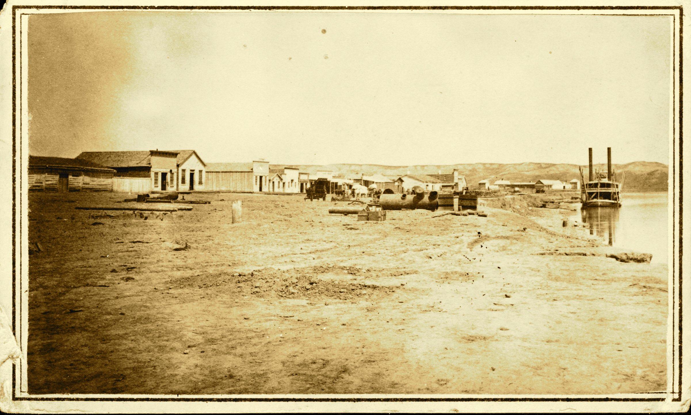 Fort Benton levee, August 1868
