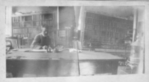 Lowell working at desk