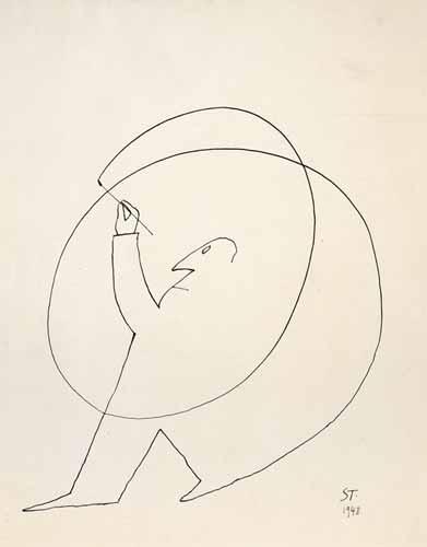 © Saul Steinberg,  Untitled , 1948.