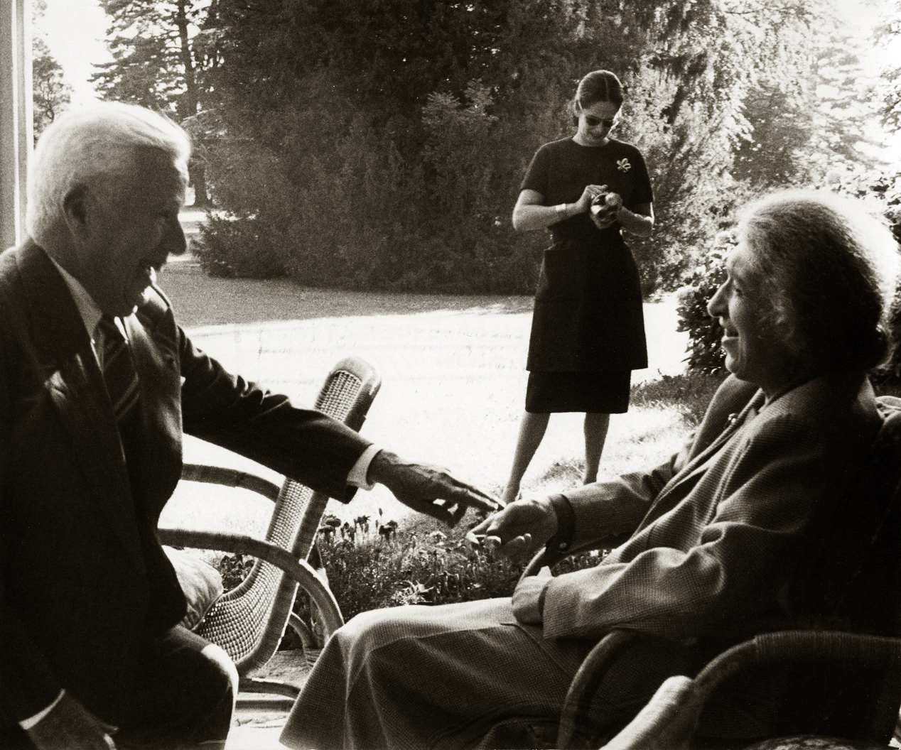 Avec Charlie Chaplin