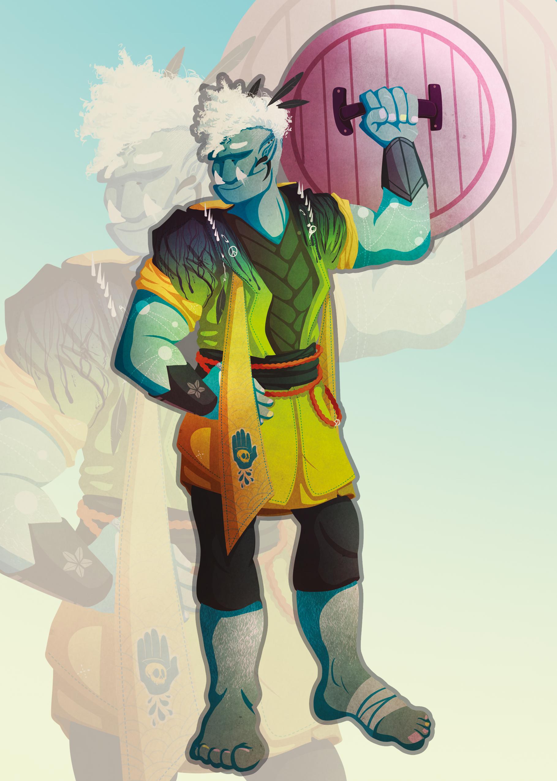 Kuli :: D&D Character Design (2017)