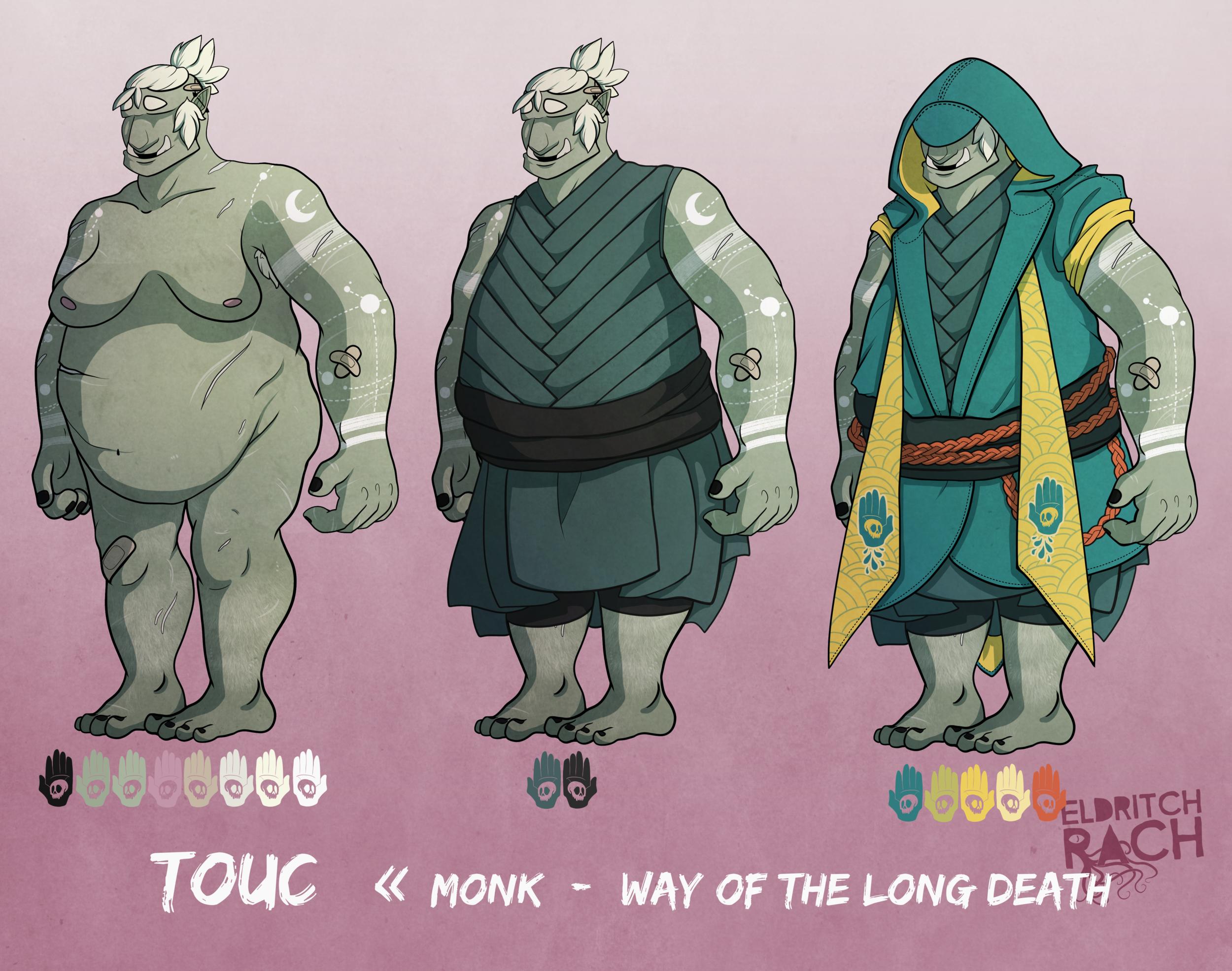 Touc :: D&D Character Design (2017)