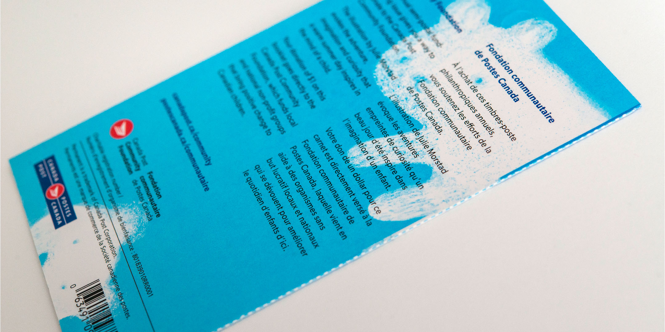Canada Post Stamp   Design : Matt Warburton CGD, FGDC, GDC Ethics Chair  Illustration : Julie Morstad