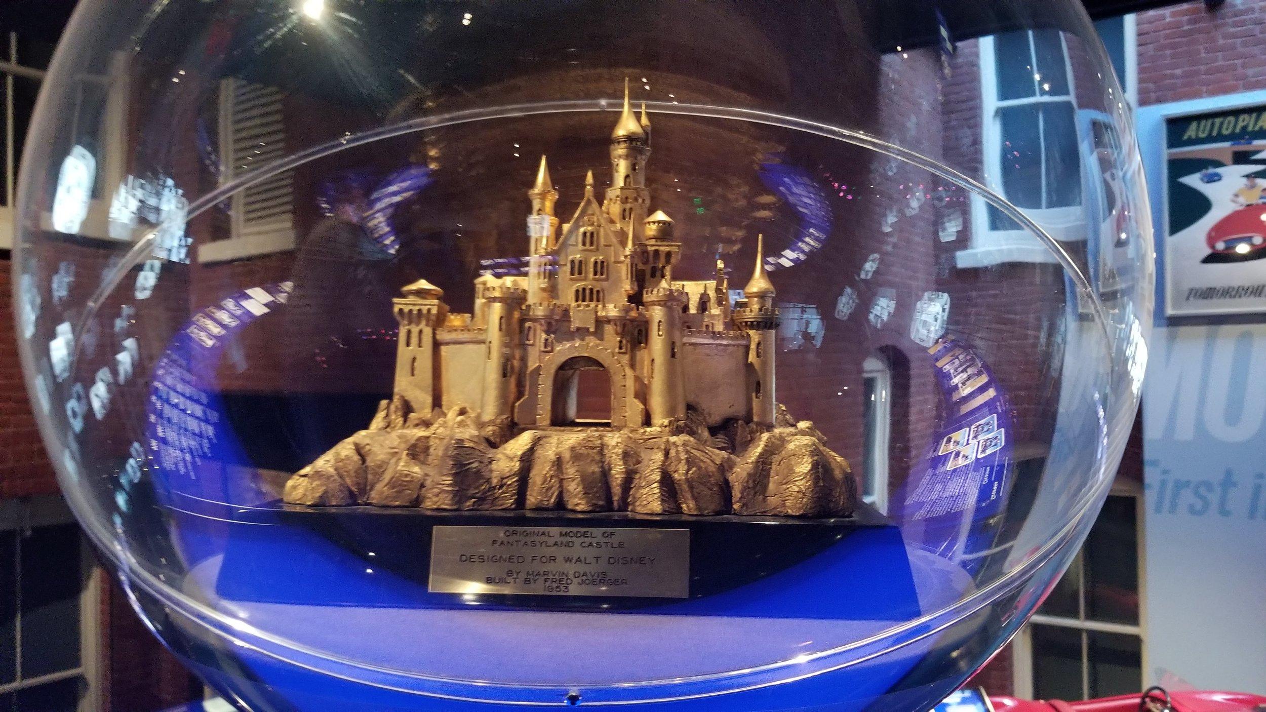 The original model of Fantasyland Castle, by Marvid Davis, built by Fred Joerger, 1953.