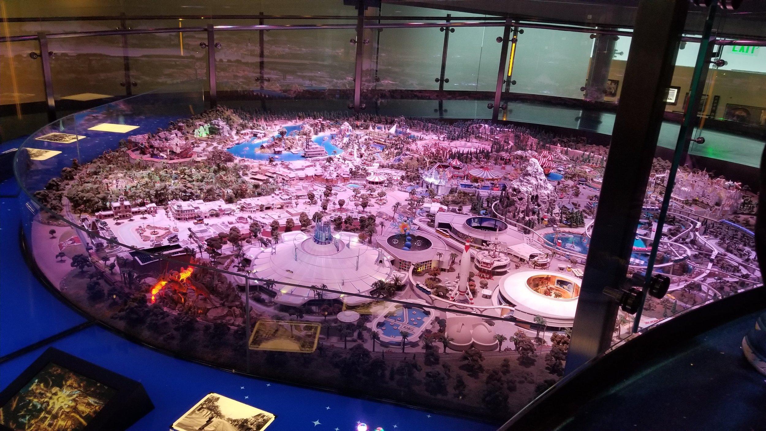 A model of Disneyland, from Walt's imagination.