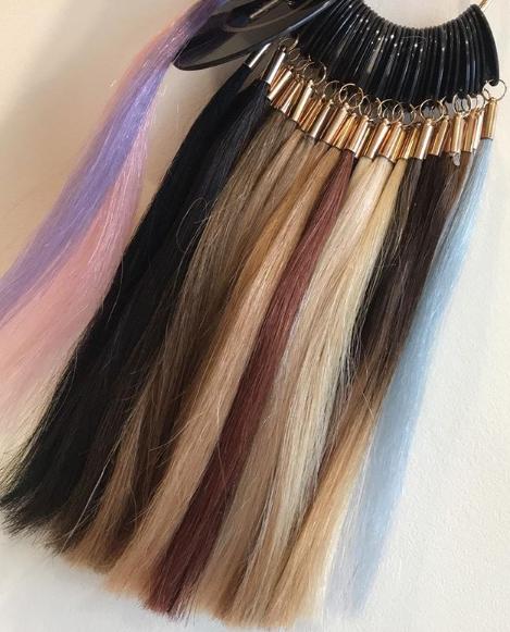 Hair Extensions Colour Ring, Joanne Hairdressing, Dorset