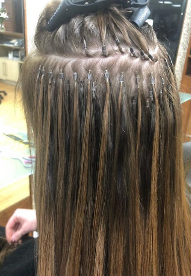 Stick-Tip Extensions fitted by Holly, Joanne Hairdressing, Dorset