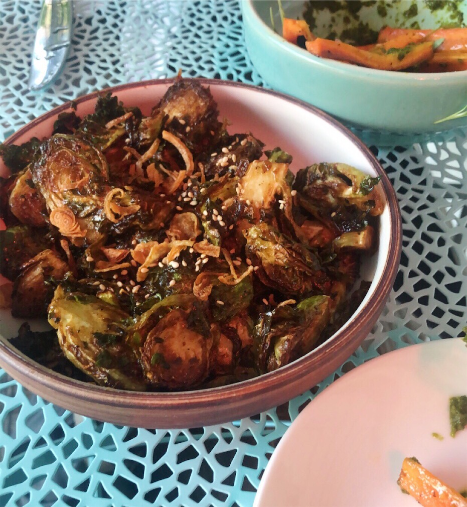 Charred Brussels at Bar Peached