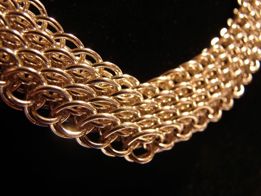 Dragonscale Bias Weave Necklace