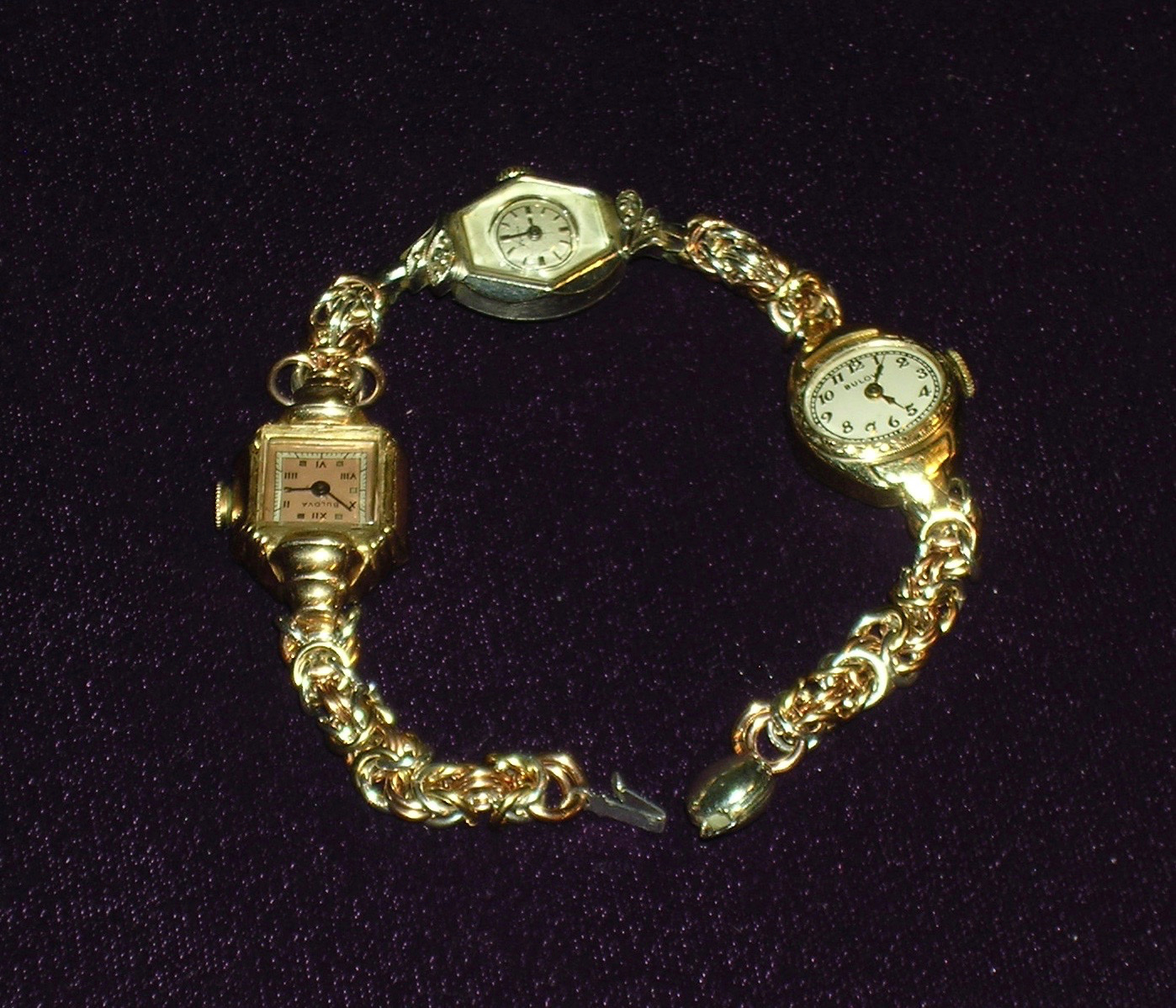 novelty bracelet with antique watches