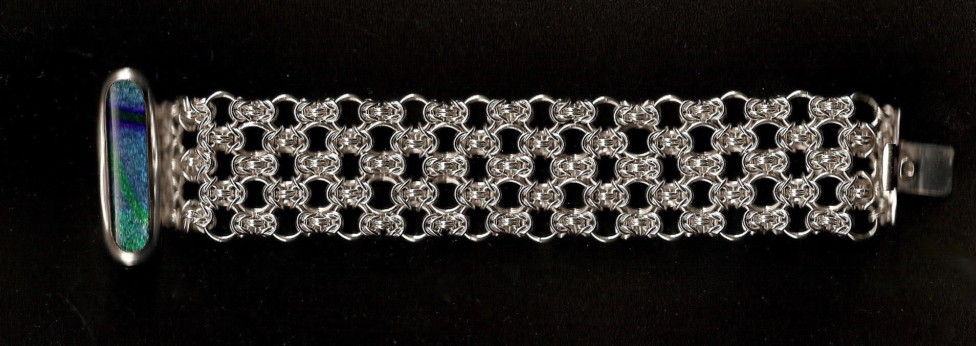 Medium width Byzantine Lace Bracelet
