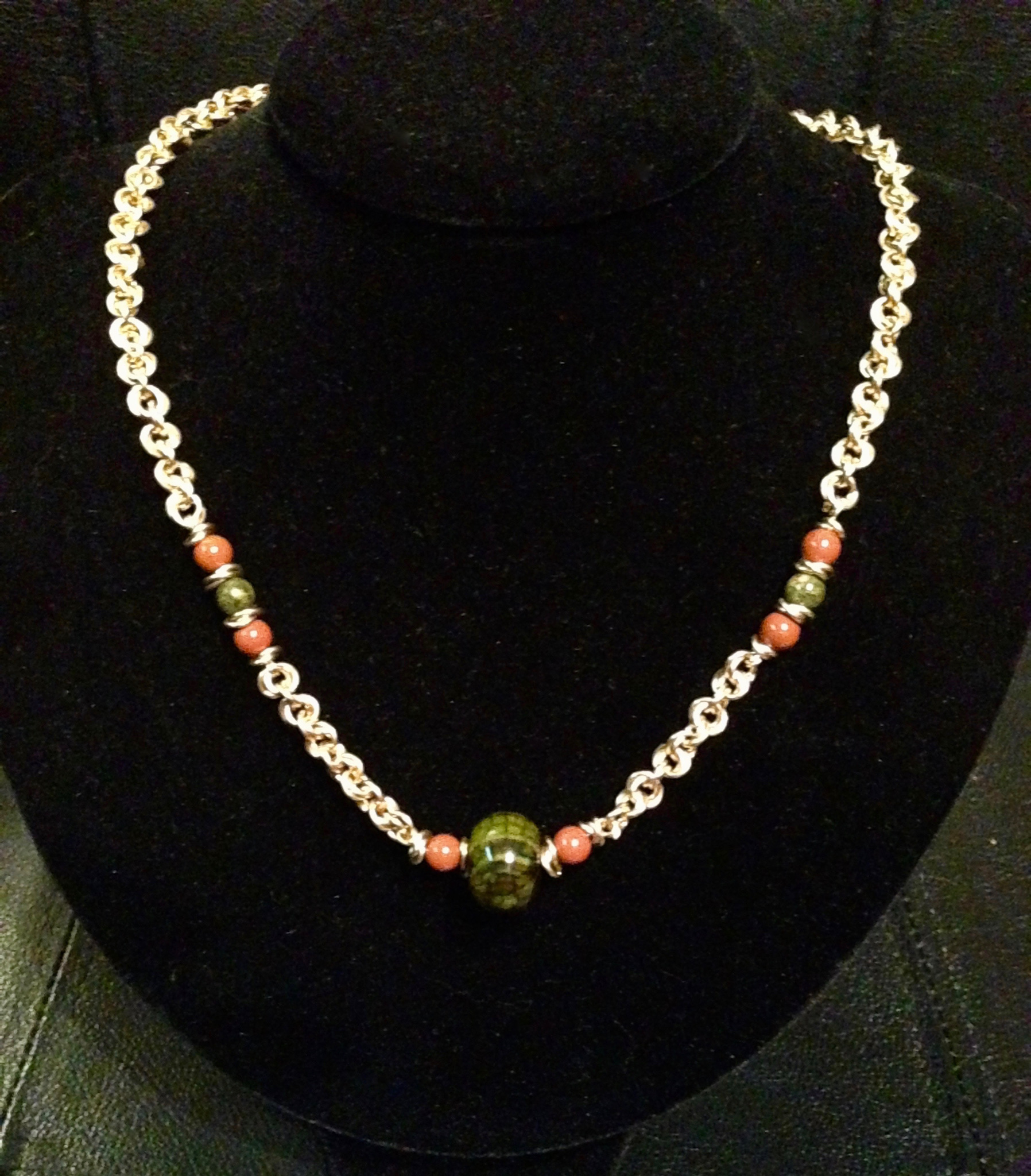 Sparkle weave Necklace with gemstone beads